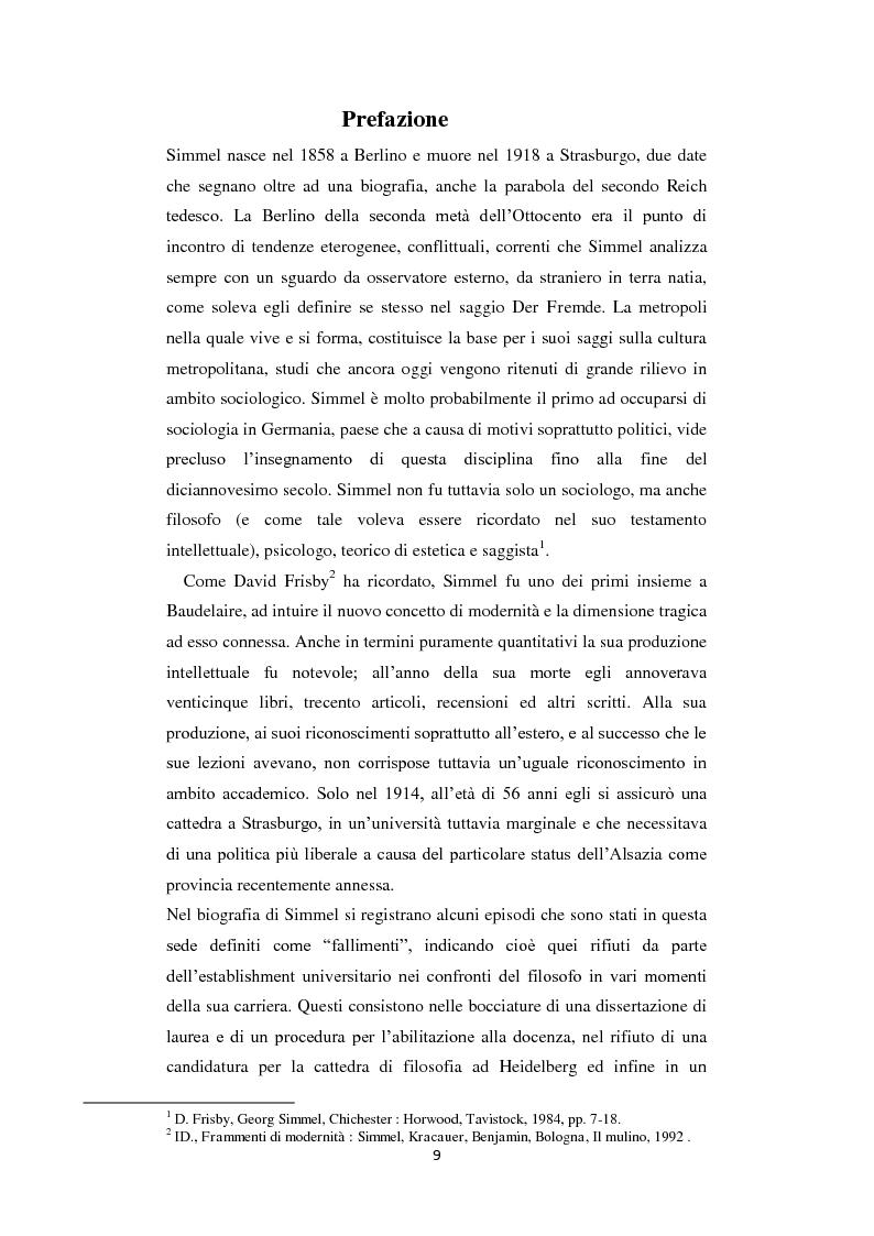Anteprima della tesi: La Geschichtsphilosophie di Georg Simmel: un inquadramento storico-biografico, Pagina 8