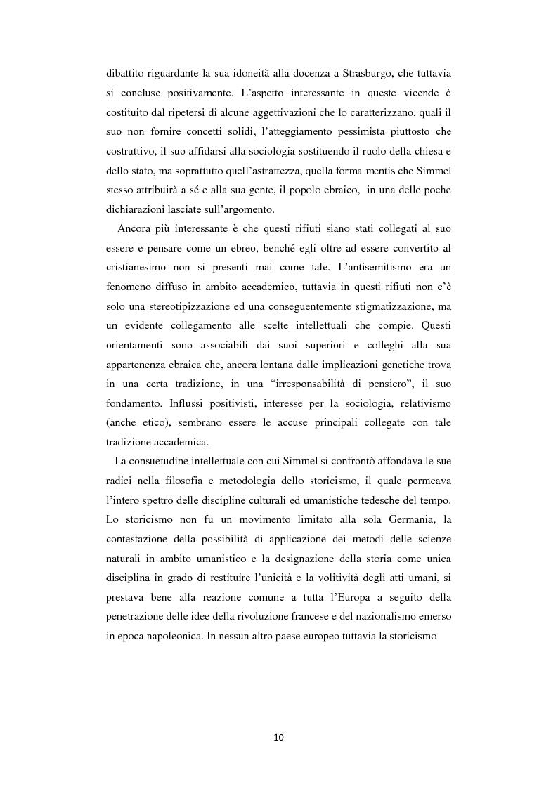 Anteprima della tesi: La Geschichtsphilosophie di Georg Simmel: un inquadramento storico-biografico, Pagina 9