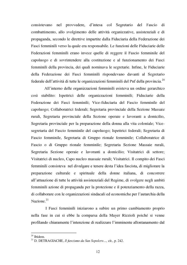 Anteprima della tesi: Le Donne, le Organizzazioni e le Politiche Femminili durante il Fascismo., Pagina 11