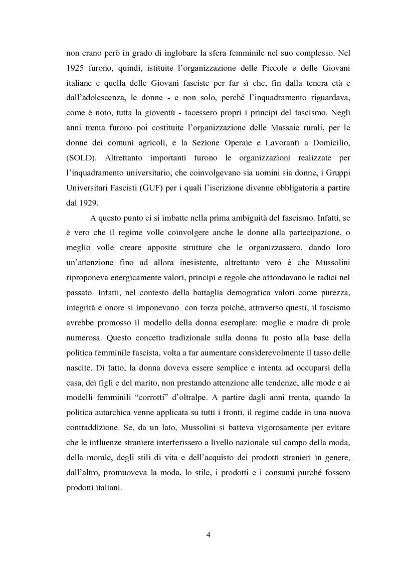 Anteprima della tesi: Le Donne, le Organizzazioni e le Politiche Femminili durante il Fascismo., Pagina 3