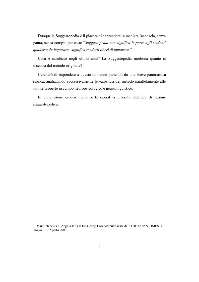 Anteprima della tesi: Suggestopedia classica e moderna, Pagina 3