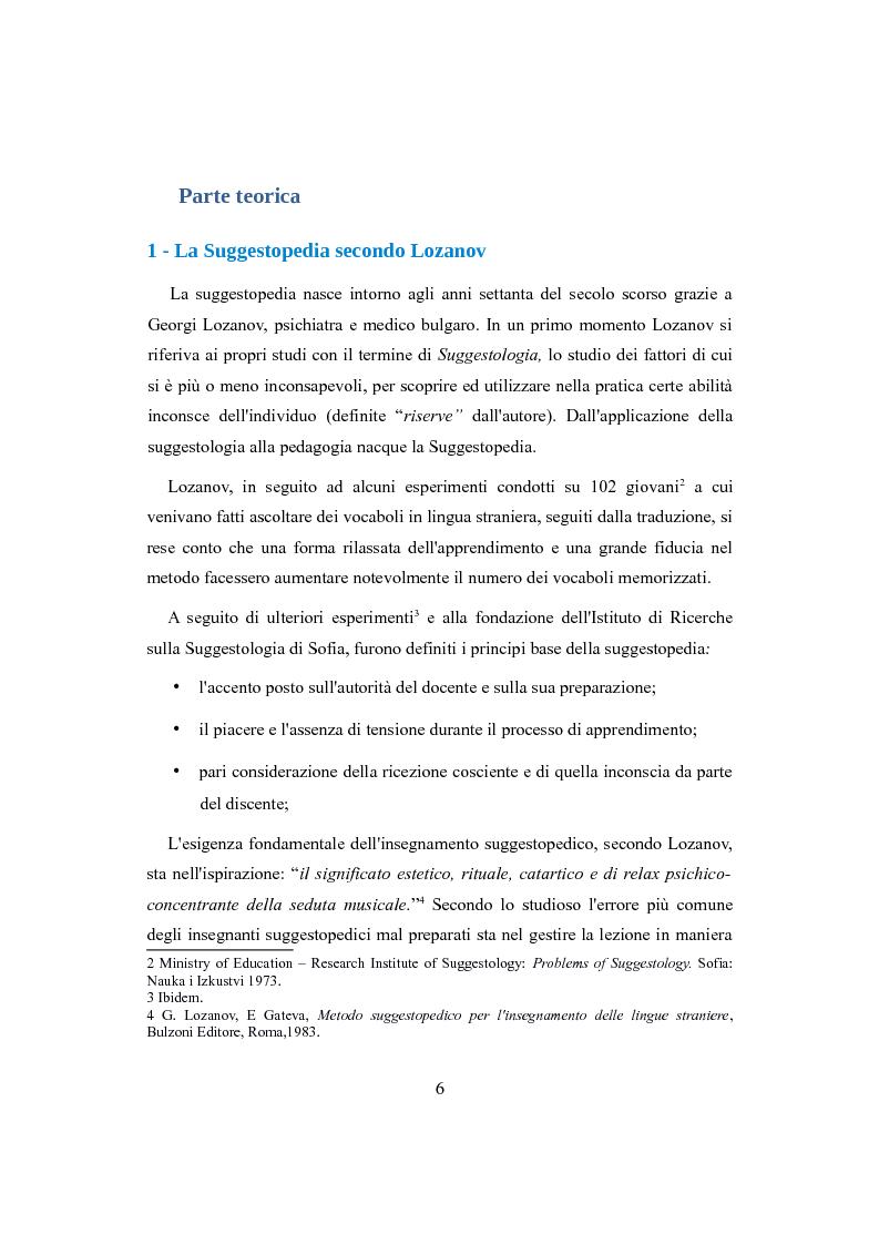 Anteprima della tesi: Suggestopedia classica e moderna, Pagina 4