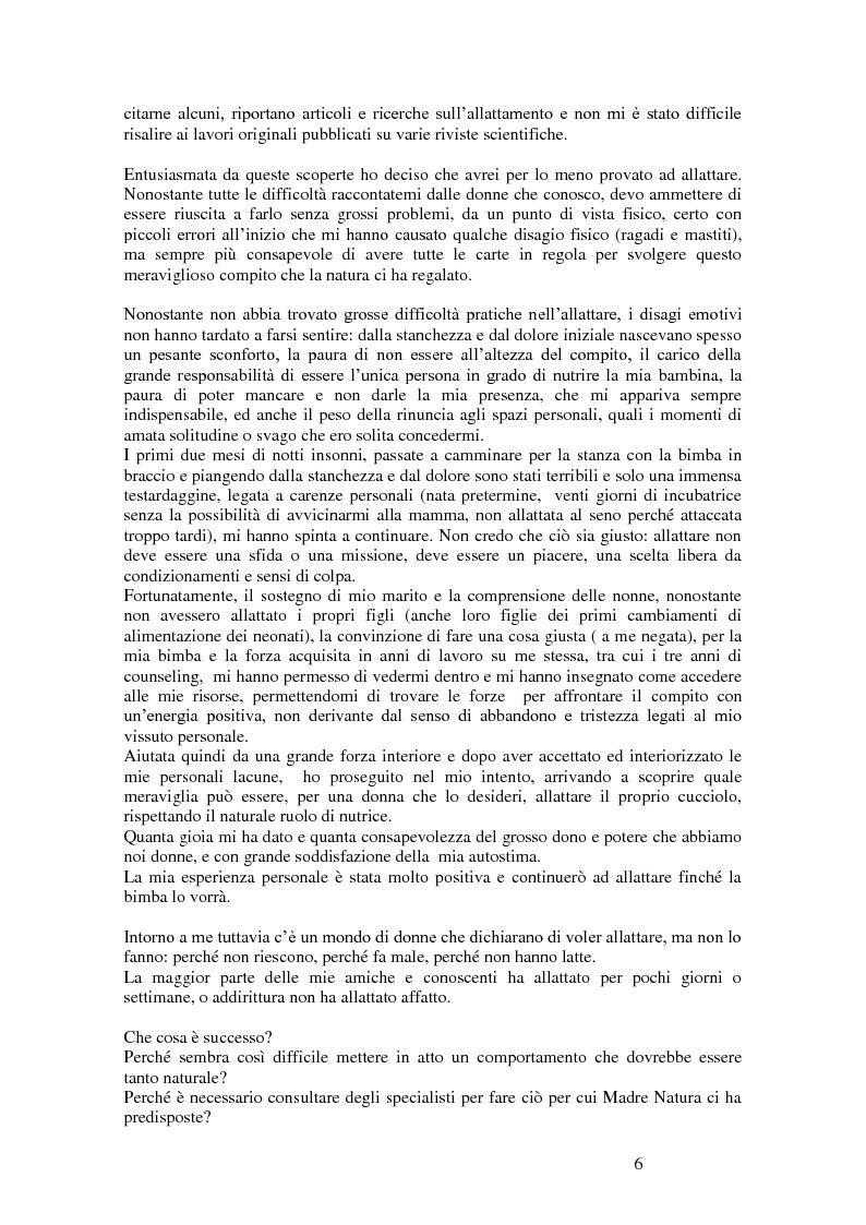 Anteprima della tesi: L'intervento di counseling come sostegno all'allattamento materno, Pagina 4