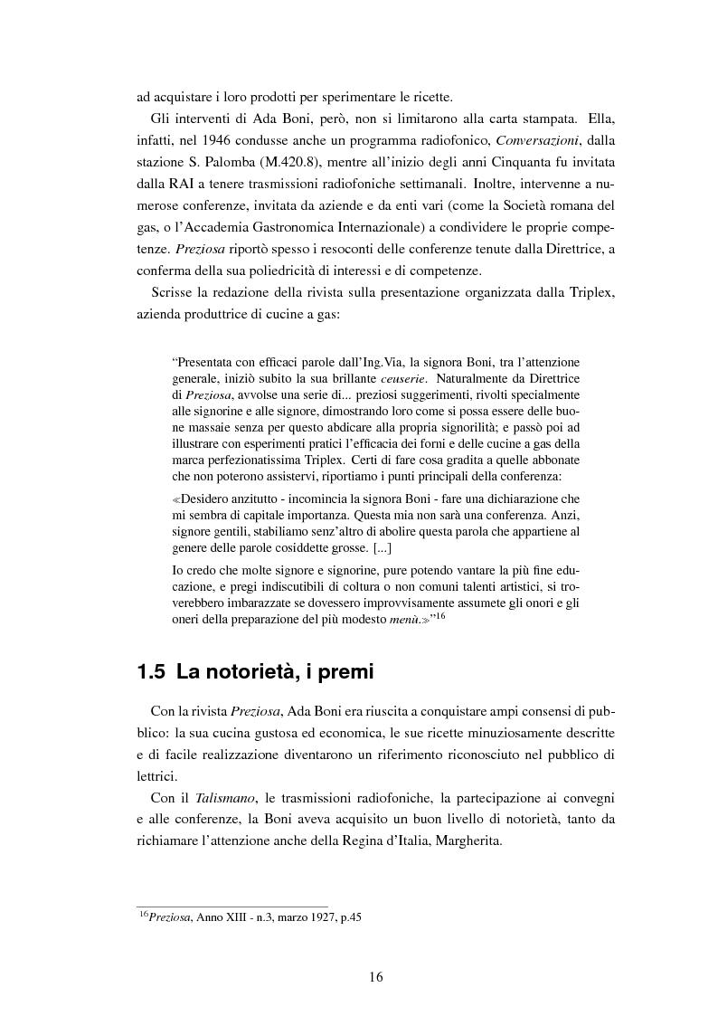 Anteprima della tesi: Ada Boni e la sua rivista ''Preziosa''. Rivista di economia domestica per signore (1915-1959), Pagina 13