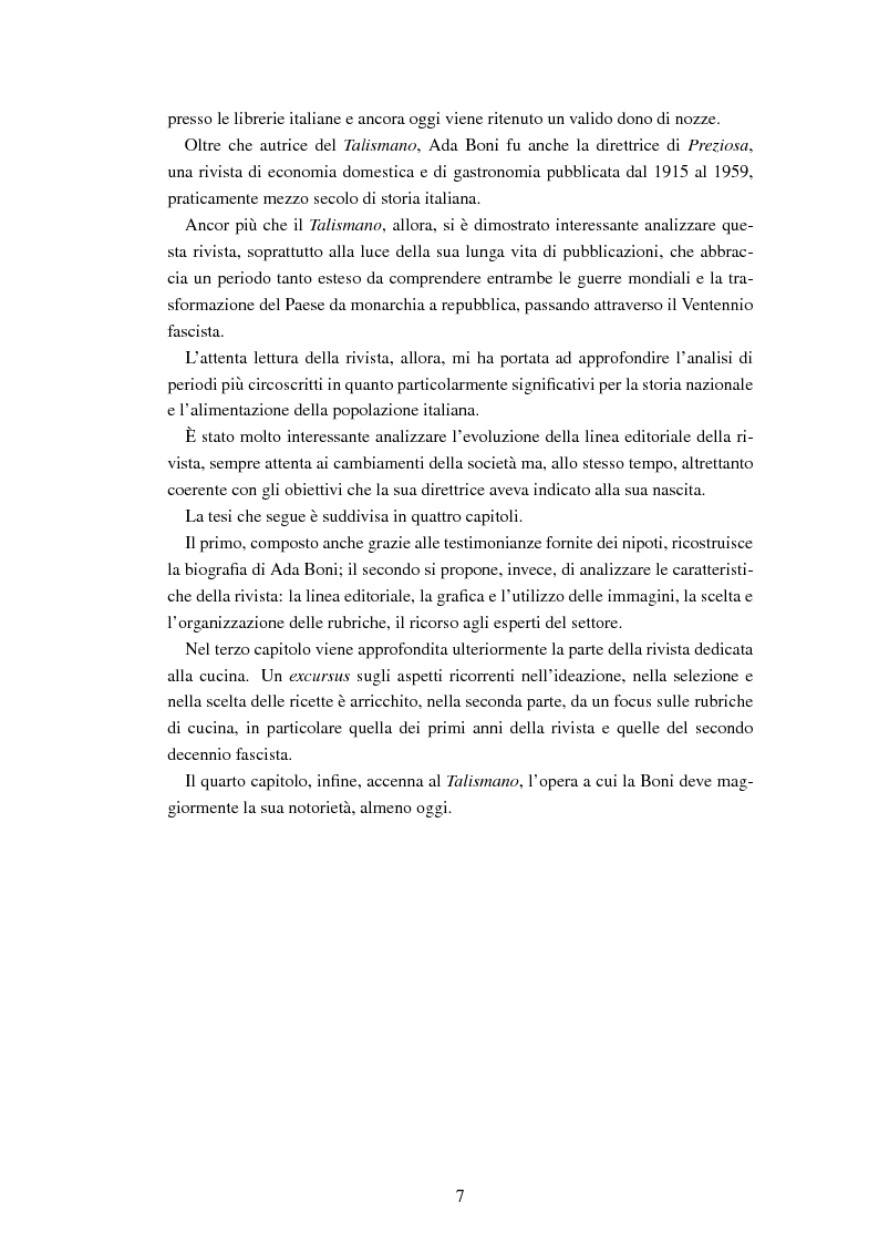 Anteprima della tesi: Ada Boni e la sua rivista ''Preziosa''. Rivista di economia domestica per signore (1915-1959), Pagina 4