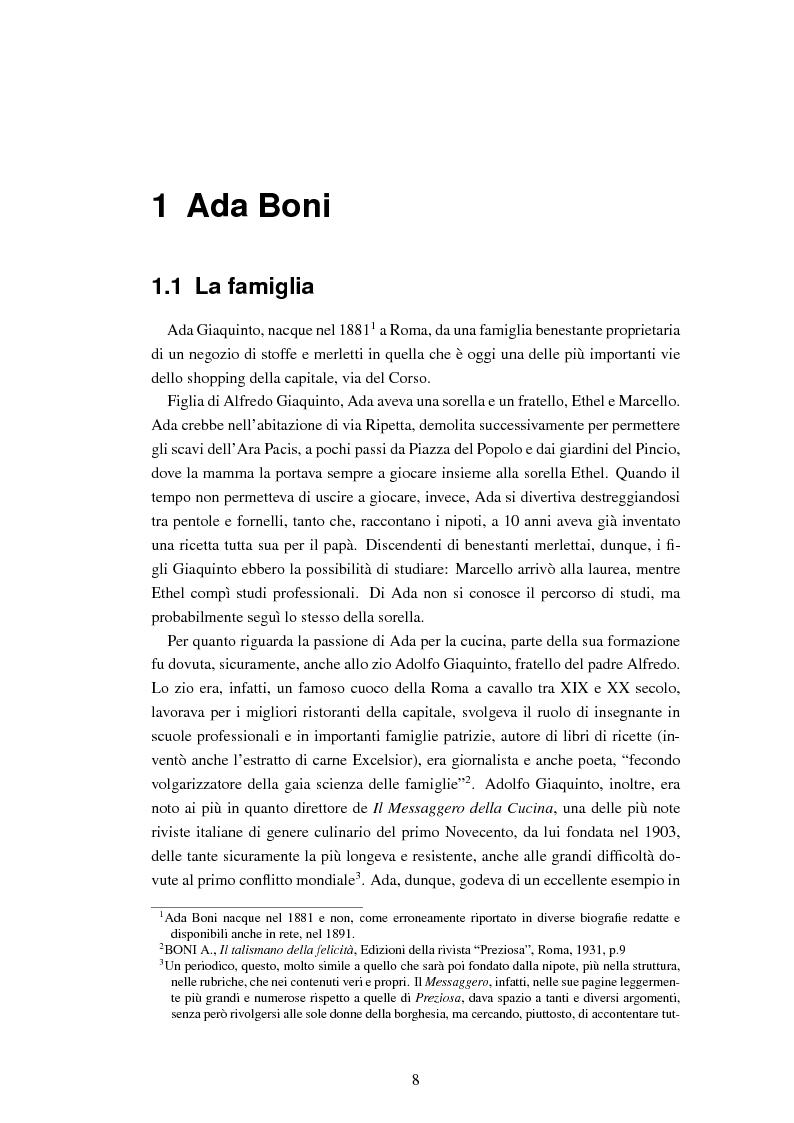 Anteprima della tesi: Ada Boni e la sua rivista ''Preziosa''. Rivista di economia domestica per signore (1915-1959), Pagina 5