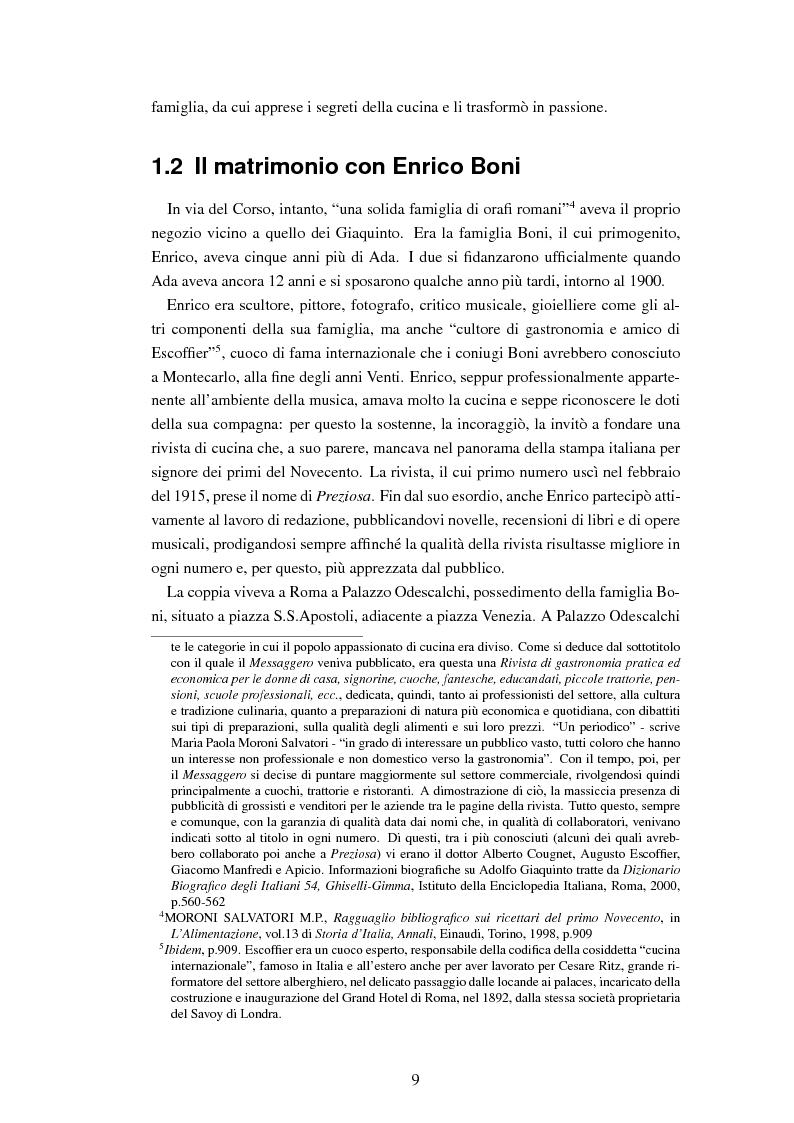 Anteprima della tesi: Ada Boni e la sua rivista ''Preziosa''. Rivista di economia domestica per signore (1915-1959), Pagina 6