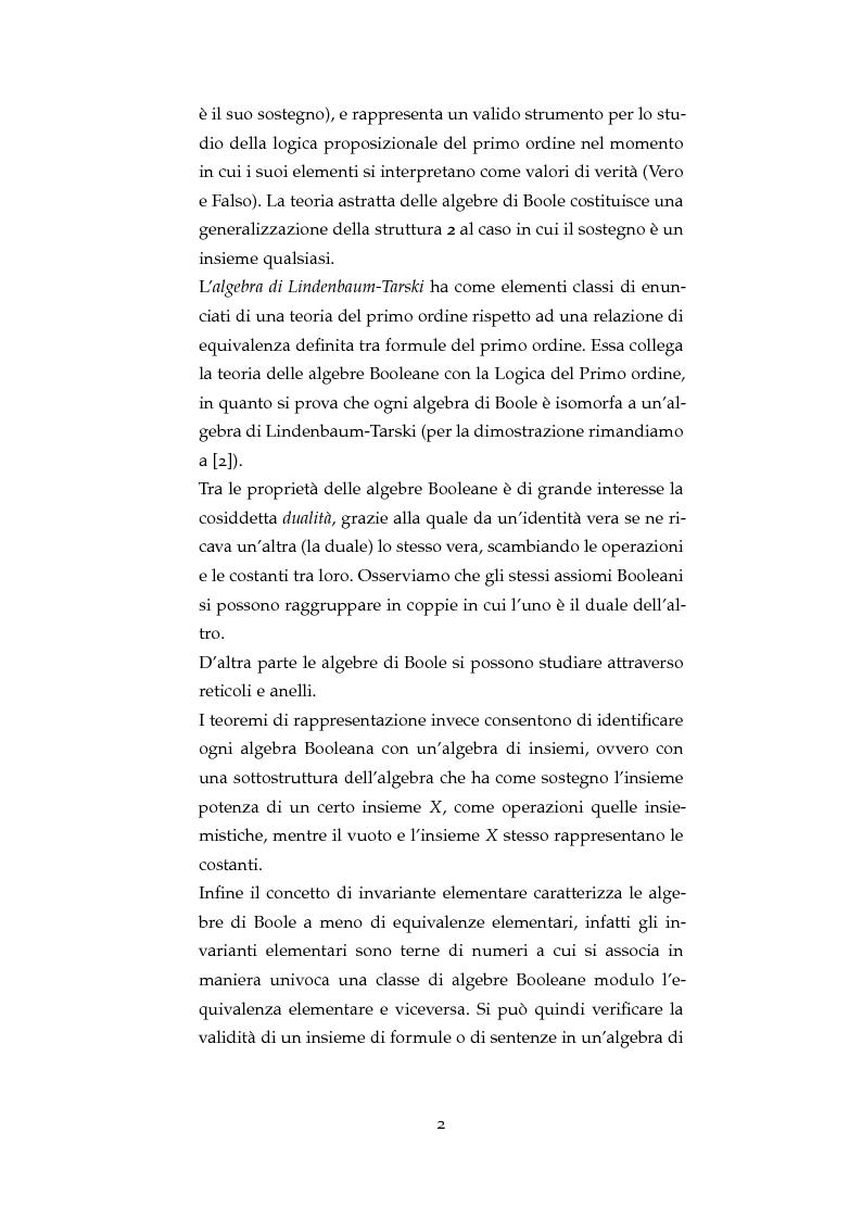 Anteprima della tesi: La Congettura di Vaught per le algebre di Boole e le MV-algebre, Pagina 3
