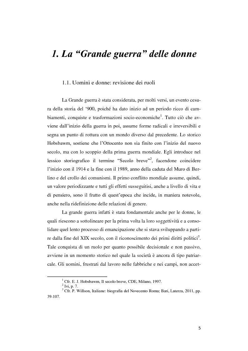 Anteprima della tesi: Donne lontano dal Fronte: la Grande guerra attraverso il «Corriere Meridionale» (1915-1918), Pagina 5