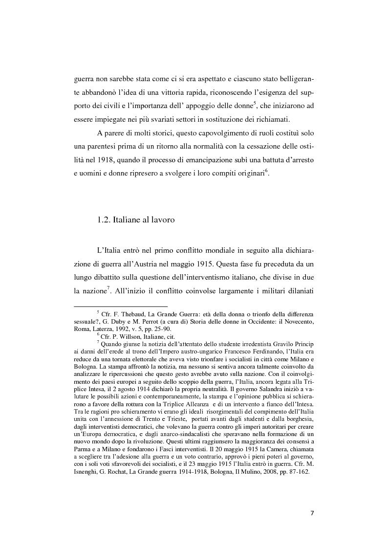 Anteprima della tesi: Donne lontano dal Fronte: la Grande guerra attraverso il «Corriere Meridionale» (1915-1918), Pagina 7