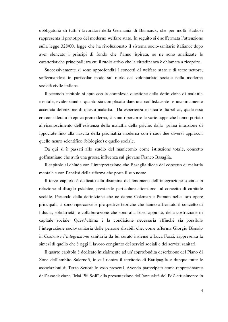 Anteprima della tesi: Trent'anni dopo Basaglia. Disagio psichico e volontariato sociale, Pagina 3