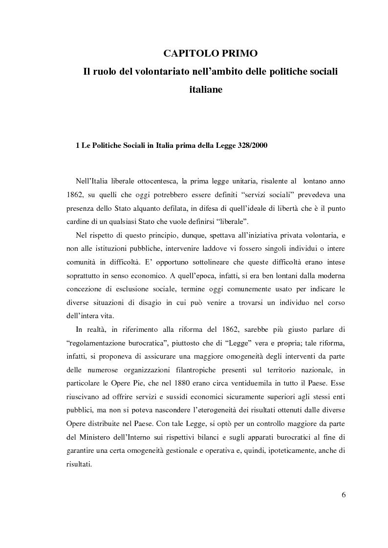 Anteprima della tesi: Trent'anni dopo Basaglia. Disagio psichico e volontariato sociale, Pagina 5