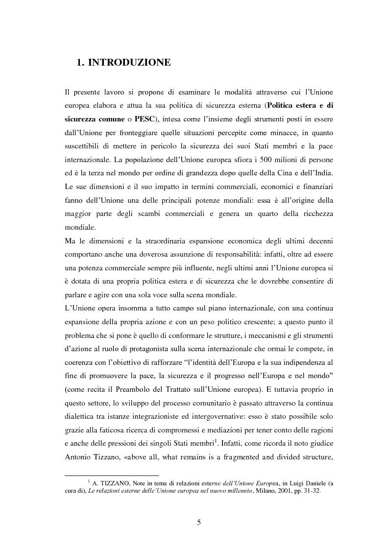 Anteprima della tesi: La politica estera e di sicurezza comune dell'Unione europea e il caso Libia, Pagina 2