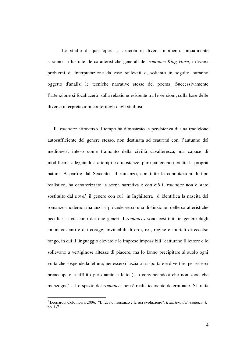 Anteprima della tesi: King Horn: alba del romanzo inglese, Pagina 4