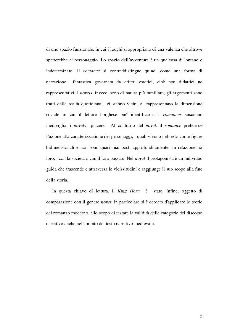 Anteprima della tesi: King Horn: alba del romanzo inglese, Pagina 5