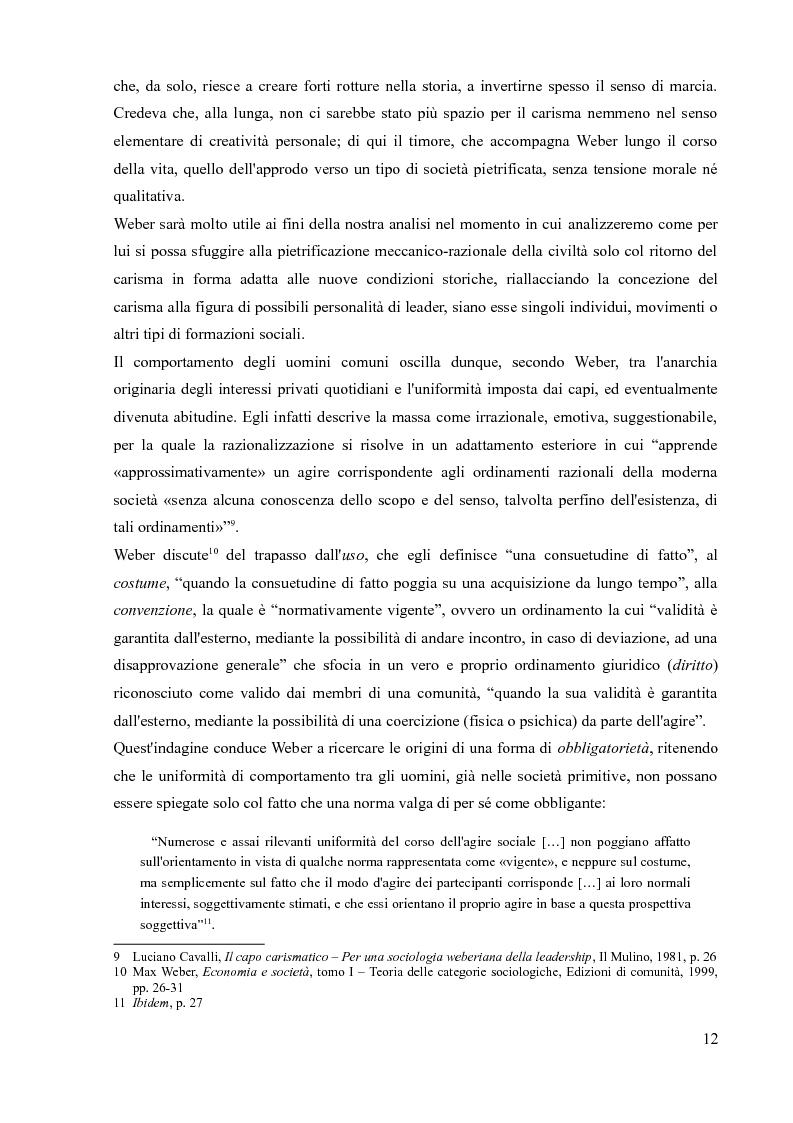 Anteprima della tesi: La sociologia processuale nello studio dei movimenti sociali contemporanei. Il caso Zeitgeist., Pagina 10