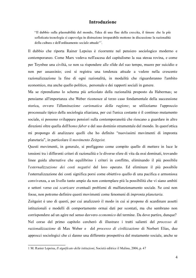 La sociologia processuale nello studio dei movimenti sociali contemporanei. Il caso Zeitgeist. - Tesi di Laurea