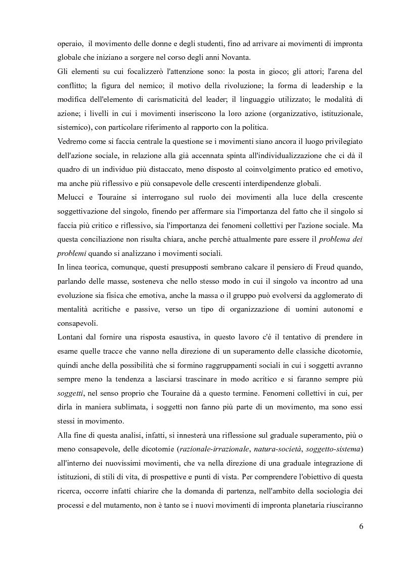 Anteprima della tesi: La sociologia processuale nello studio dei movimenti sociali contemporanei. Il caso Zeitgeist., Pagina 4