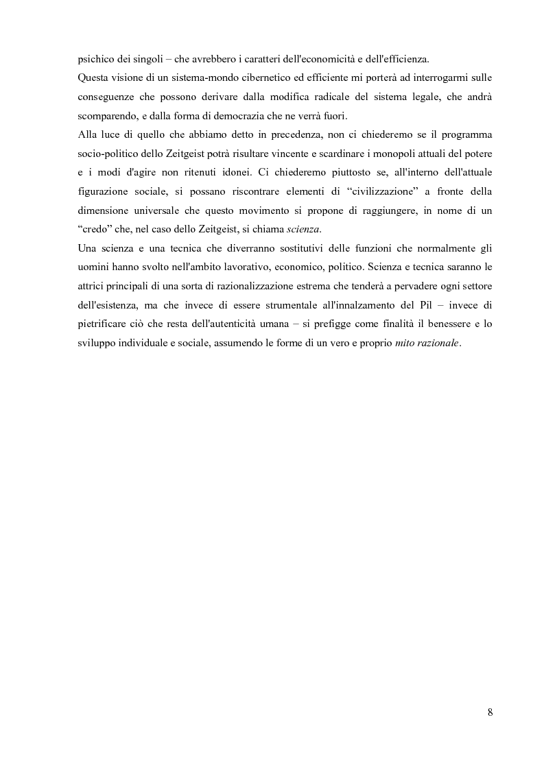 Anteprima della tesi: La sociologia processuale nello studio dei movimenti sociali contemporanei. Il caso Zeitgeist., Pagina 6