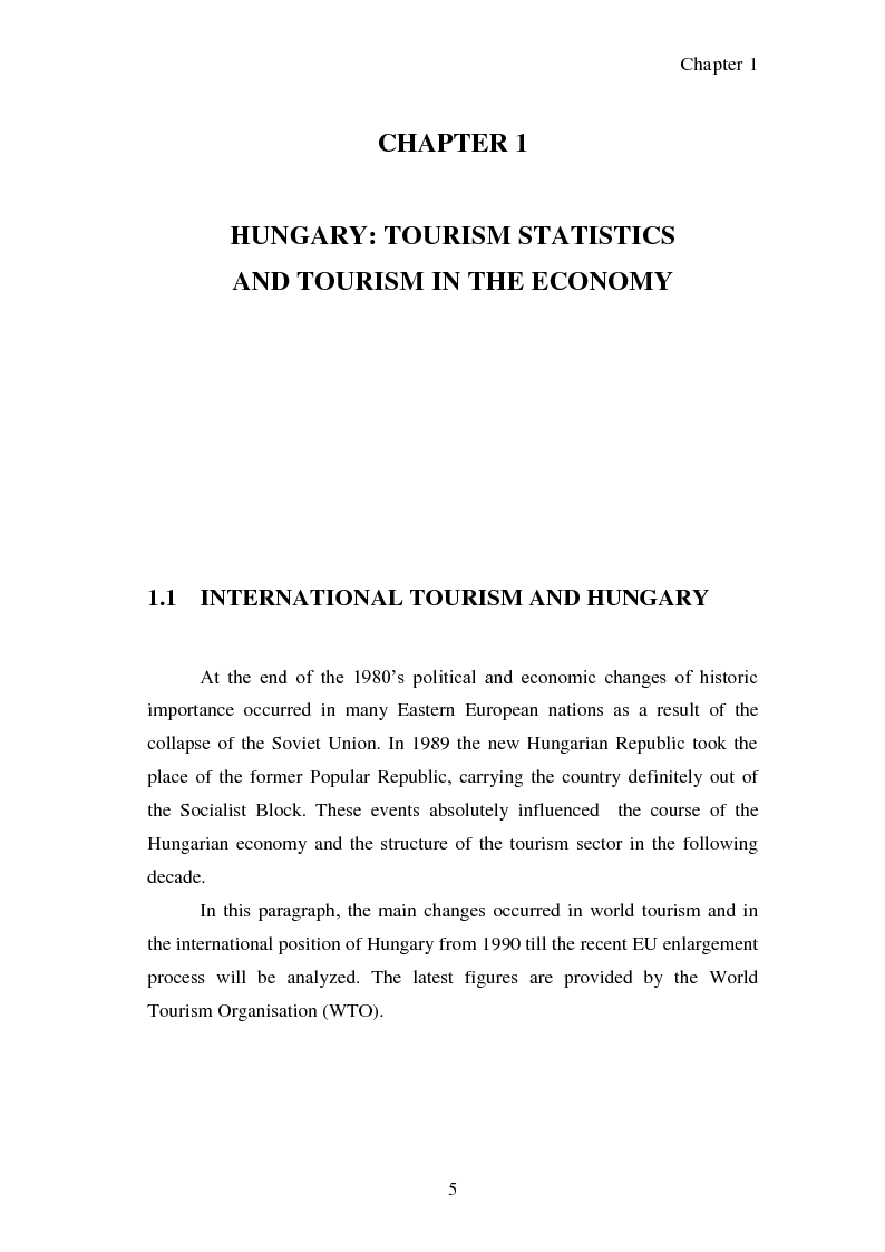 Anteprima della tesi: Hungary as a tourist product:  theoretical and promotional issues , Pagina 6