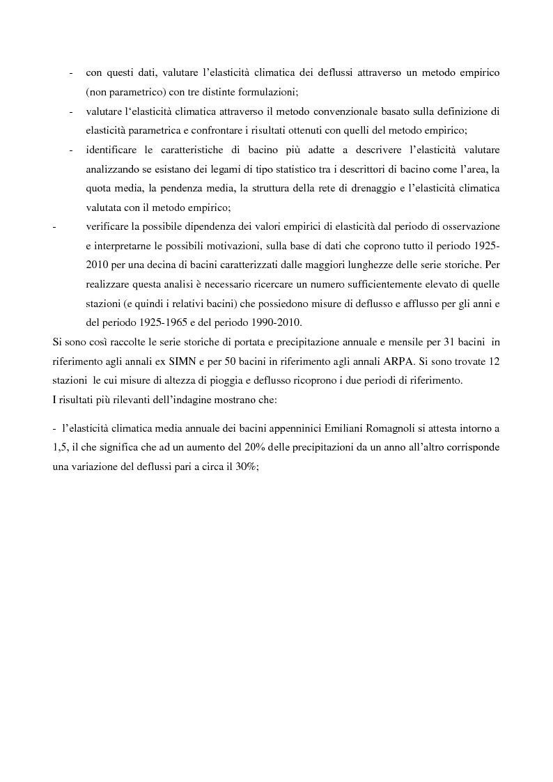 Anteprima della tesi: Analisi dell'elasticità climatica per i bacini appenninici dell'Emilia Romagna, Pagina 3