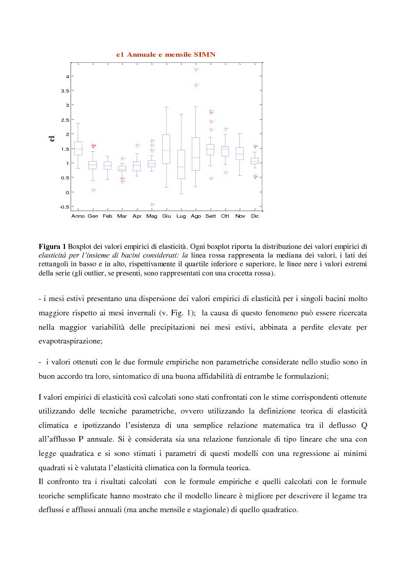 Anteprima della tesi: Analisi dell'elasticità climatica per i bacini appenninici dell'Emilia Romagna, Pagina 4