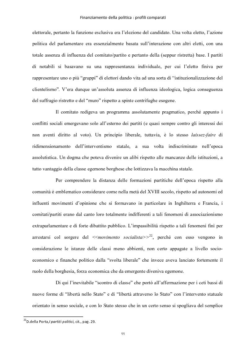 Anteprima della tesi: Finanziamento della politica : profili comparati, Pagina 12