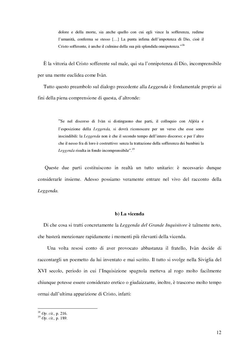 Anteprima della tesi: La Leggenda del Grande Inquisitore e la questione ontologica della libertà, Pagina 11