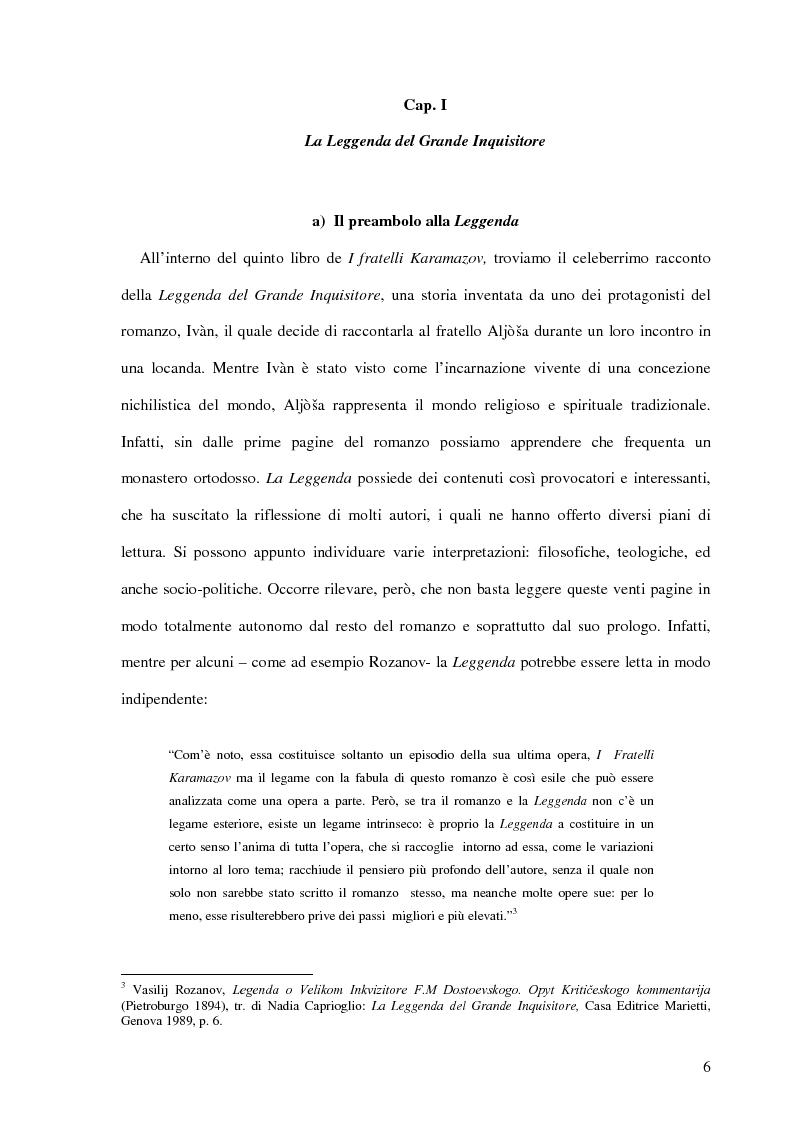 Anteprima della tesi: La Leggenda del Grande Inquisitore e la questione ontologica della libertà, Pagina 5