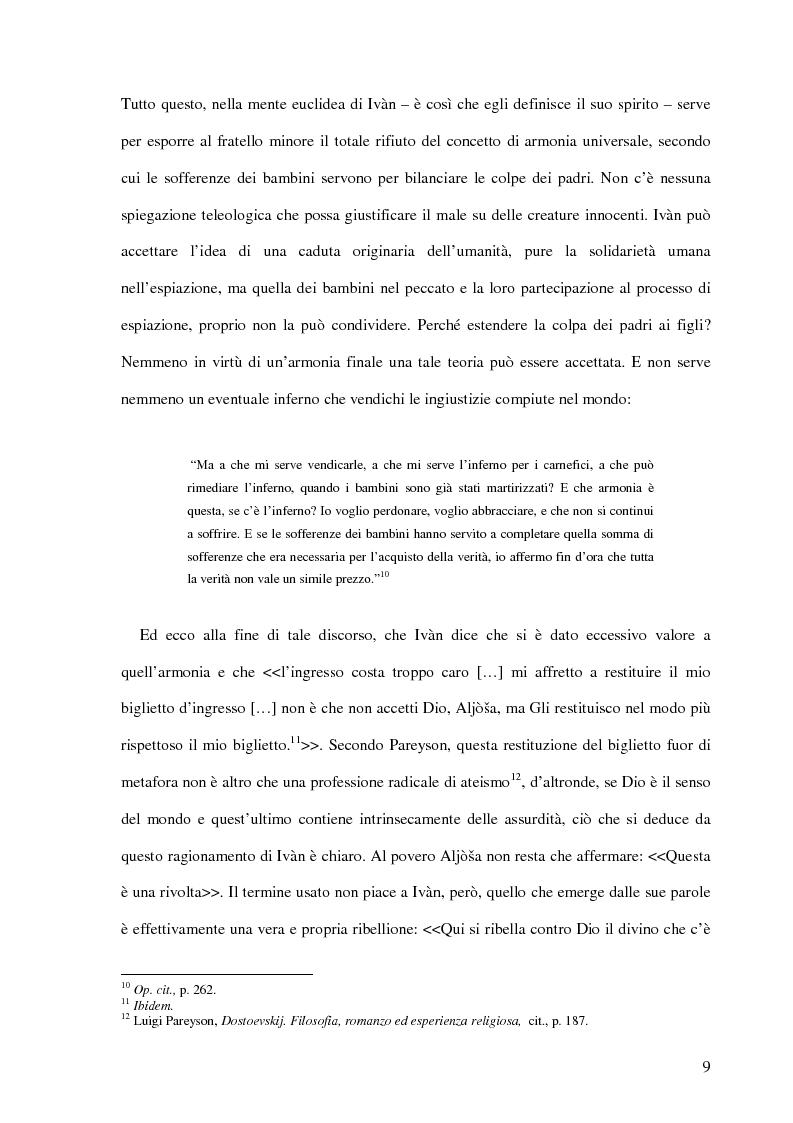Anteprima della tesi: La Leggenda del Grande Inquisitore e la questione ontologica della libertà, Pagina 8