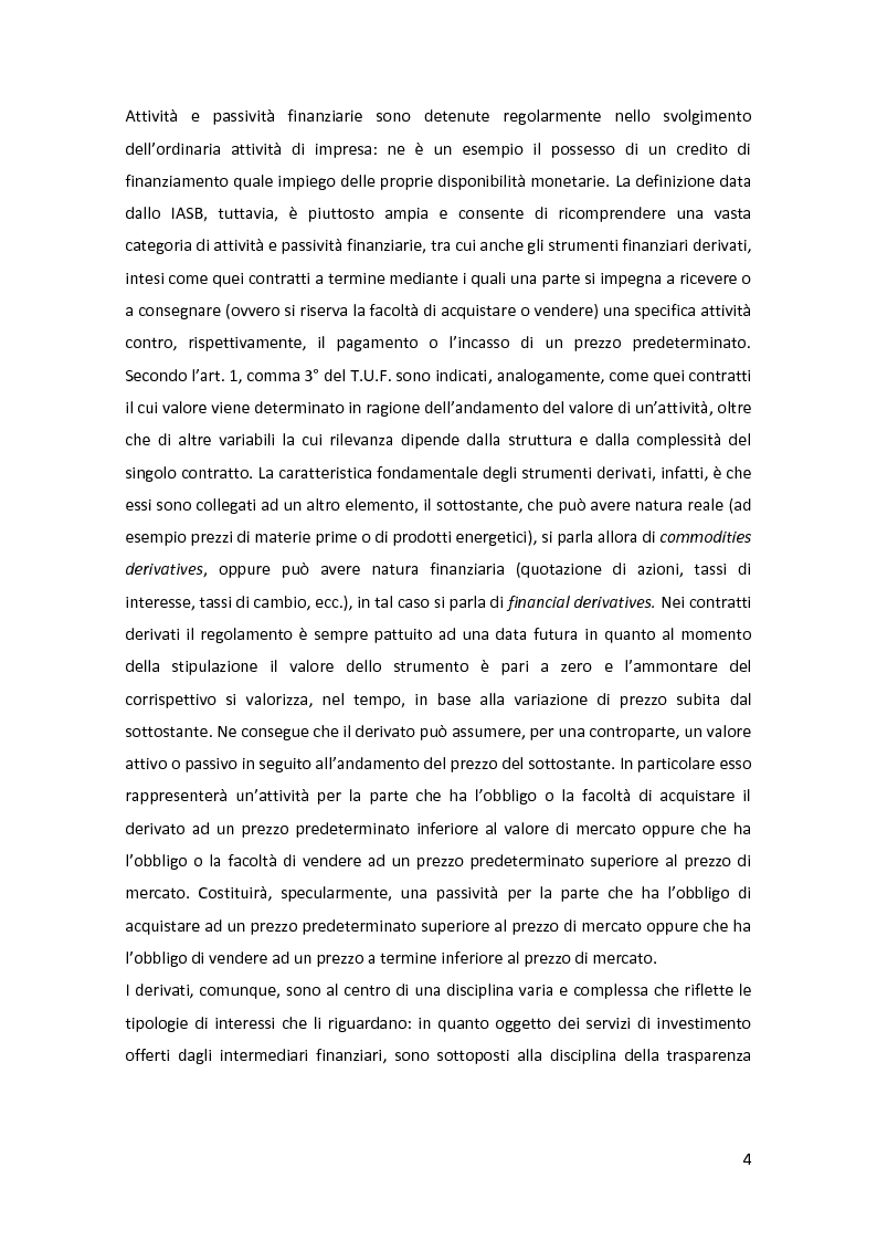 Anteprima della tesi: Gli strumenti finanziari nel bilancio bancario: principali tipologie e trattamento contabile, Pagina 5