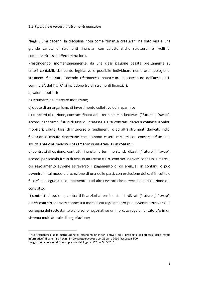 Anteprima della tesi: Gli strumenti finanziari nel bilancio bancario: principali tipologie e trattamento contabile, Pagina 9