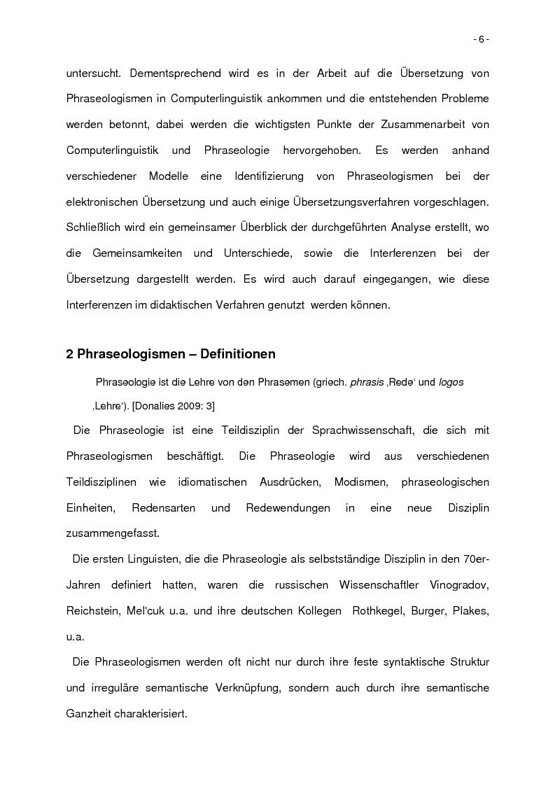 Anteprima della tesi: Korpusbasierte kontrastive Analyse von spanischen und italienischen Phraseologismen, Pagina 3
