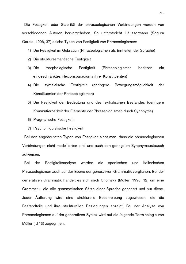 Anteprima della tesi: Korpusbasierte kontrastive Analyse von spanischen und italienischen Phraseologismen, Pagina 6