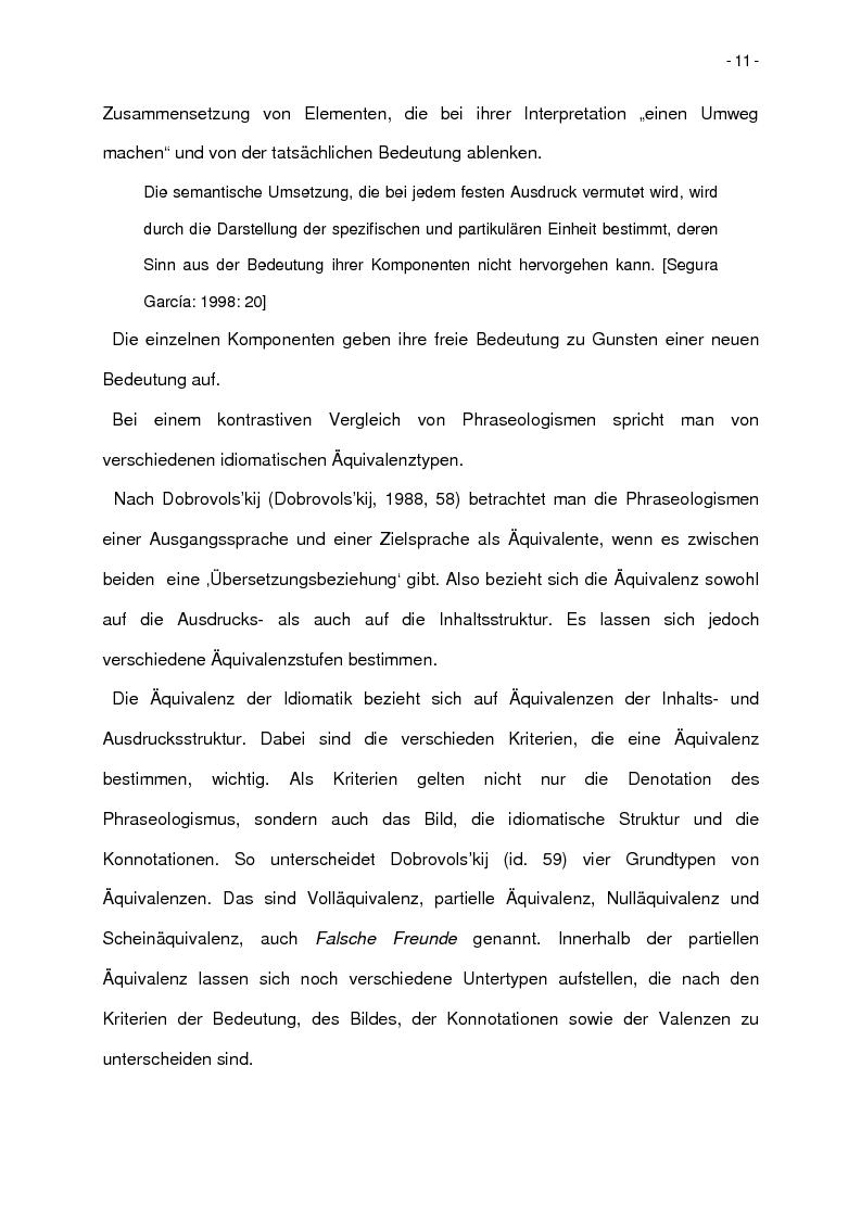 Anteprima della tesi: Korpusbasierte kontrastive Analyse von spanischen und italienischen Phraseologismen, Pagina 8