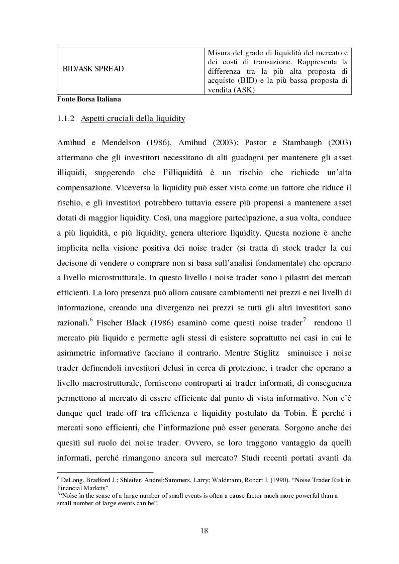 Estratto dalla tesi: Liquidity e Valore: un'Analisi Empirica in Italia
