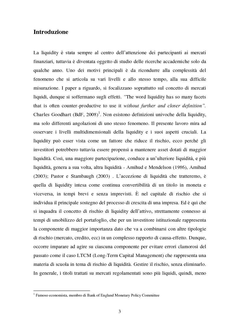 Anteprima della tesi: Liquidity e Valore: un'Analisi Empirica in Italia, Pagina 2