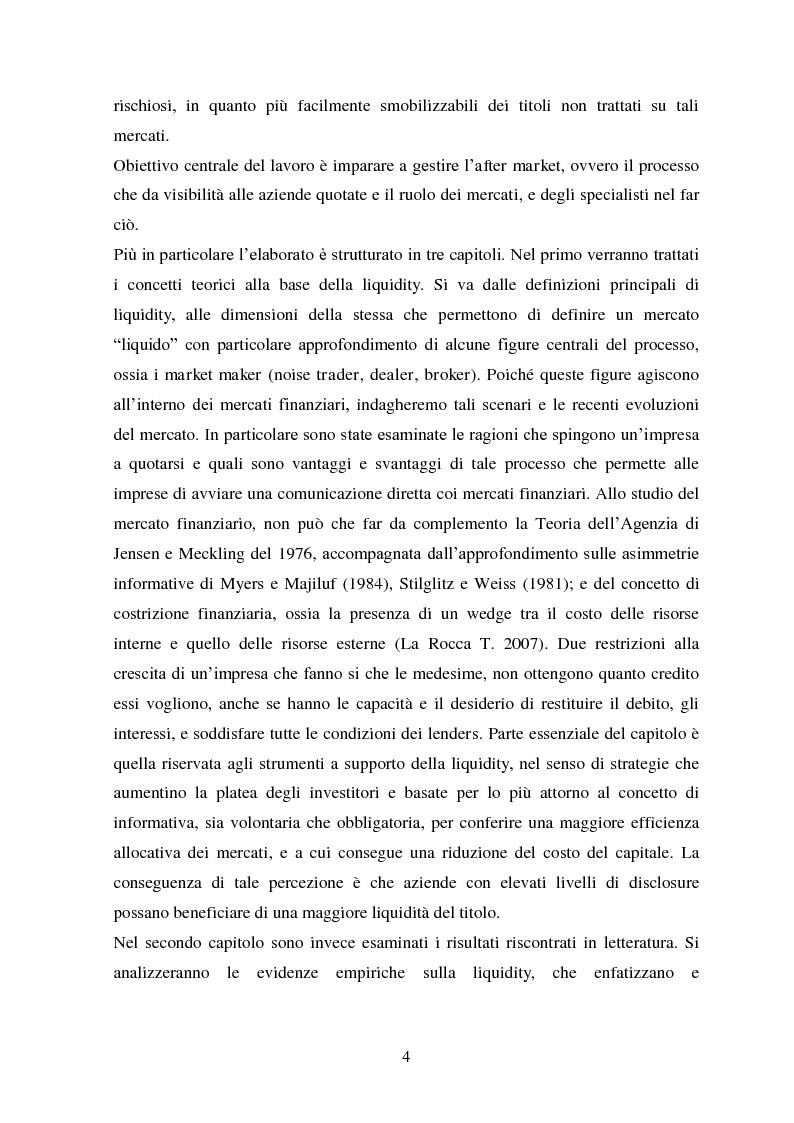 Anteprima della tesi: Liquidity e Valore: un'Analisi Empirica in Italia, Pagina 3