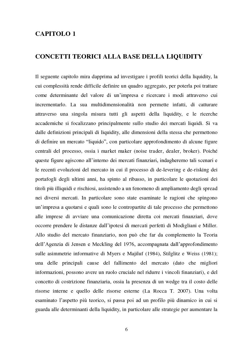 Anteprima della tesi: Liquidity e Valore: un'Analisi Empirica in Italia, Pagina 5