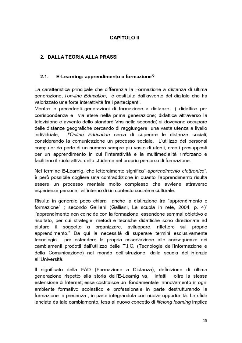 Anteprima della tesi: E-Tutor:una figura di riferimento nell'apprendimento online - attraverso la rappresentazione degli studenti, Pagina 11