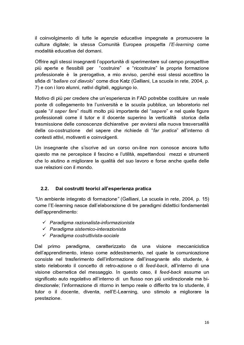 Anteprima della tesi: E-Tutor:una figura di riferimento nell'apprendimento online - attraverso la rappresentazione degli studenti, Pagina 12