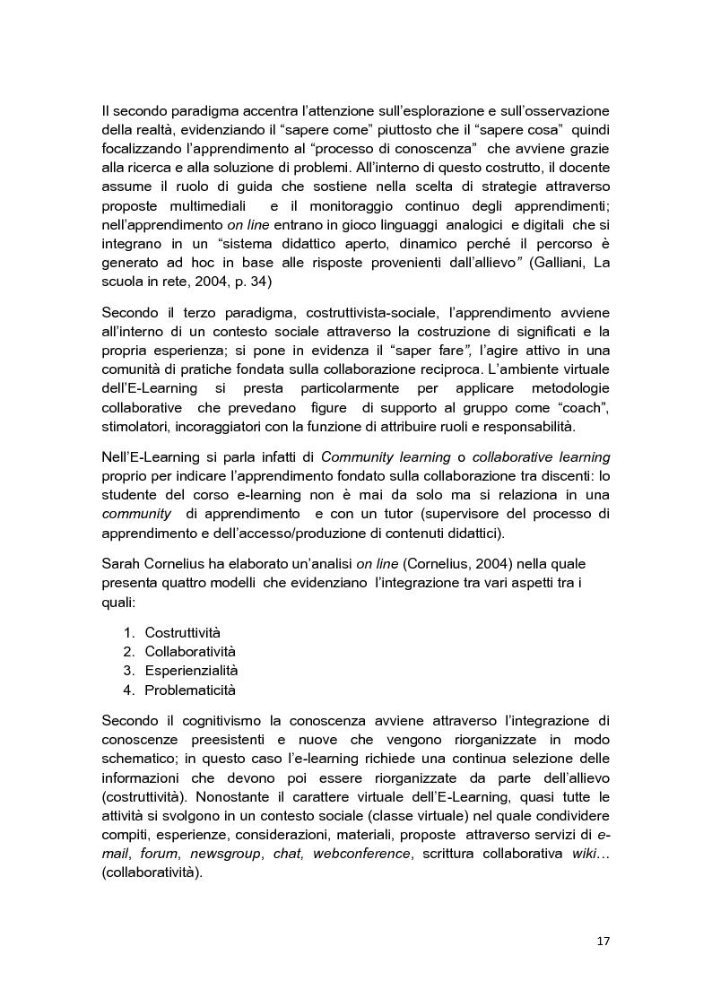 Anteprima della tesi: E-Tutor:una figura di riferimento nell'apprendimento online - attraverso la rappresentazione degli studenti, Pagina 13