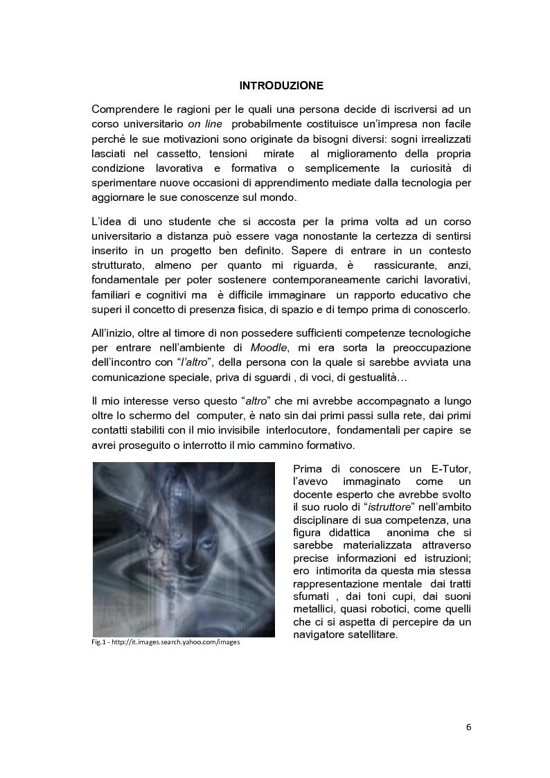 Anteprima della tesi: E-Tutor:una figura di riferimento nell'apprendimento online - attraverso la rappresentazione degli studenti, Pagina 2