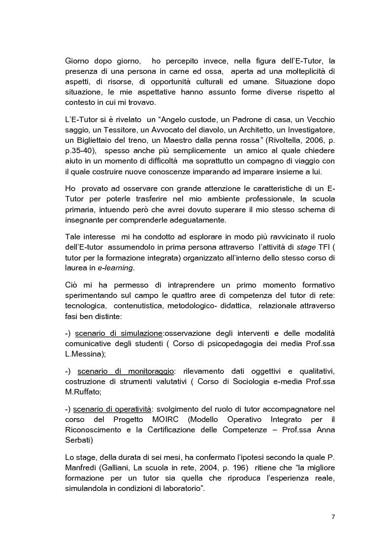 Anteprima della tesi: E-Tutor:una figura di riferimento nell'apprendimento online - attraverso la rappresentazione degli studenti, Pagina 3