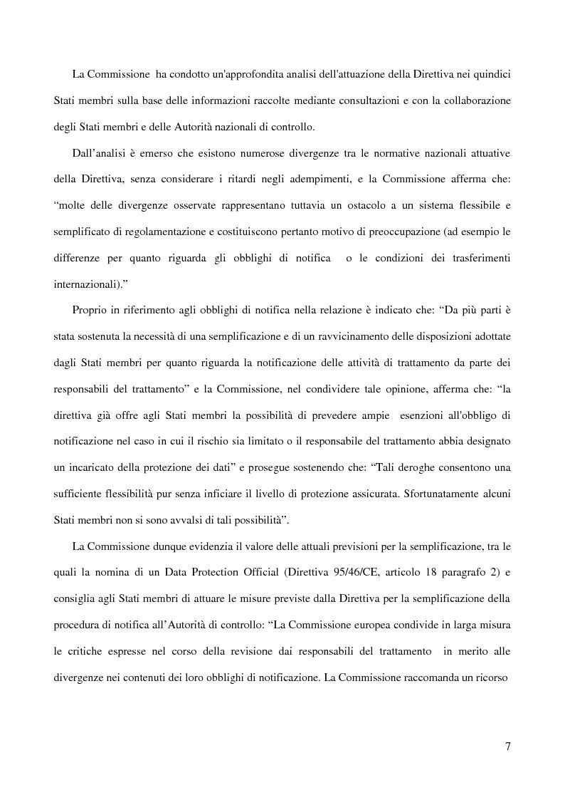 Anteprima della tesi: La figura del Data Protection Officer nel quadro giuridico europeo sulla protezione dei dati personali, Pagina 8