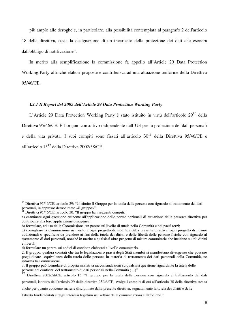 Anteprima della tesi: La figura del Data Protection Officer nel quadro giuridico europeo sulla protezione dei dati personali, Pagina 9