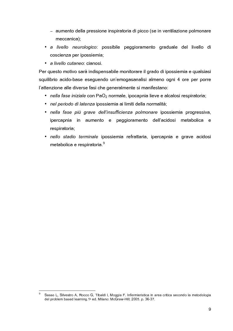 Anteprima della tesi: Problematiche di nursing nel paziente critico ventilato artificialmente in posizione prona, Pagina 12