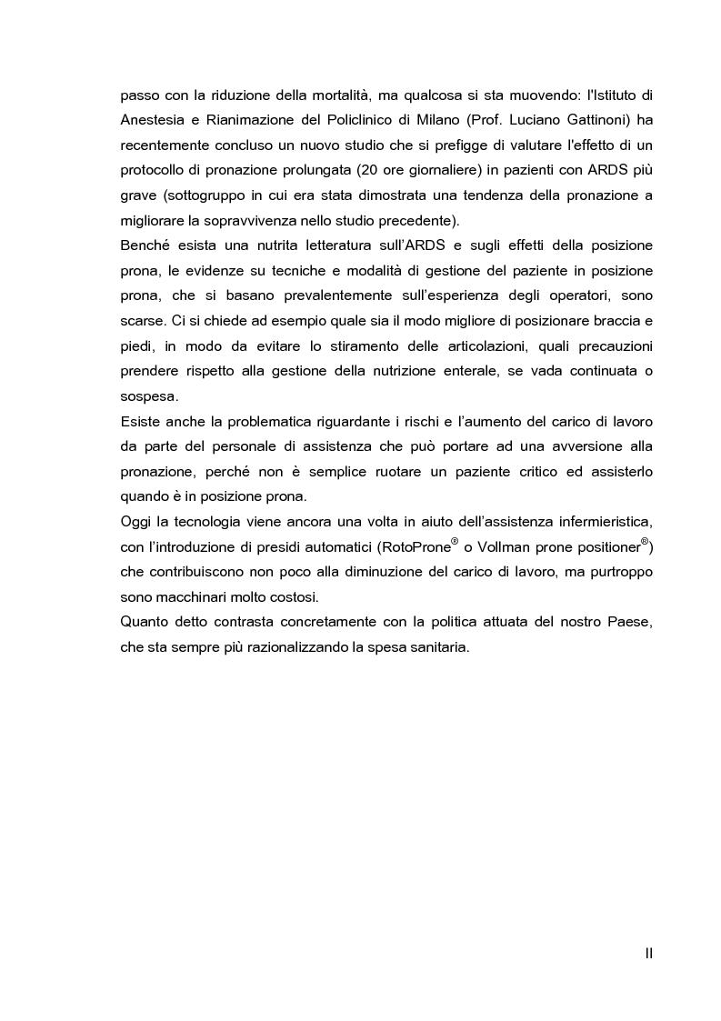 Anteprima della tesi: Problematiche di nursing nel paziente critico ventilato artificialmente in posizione prona, Pagina 3