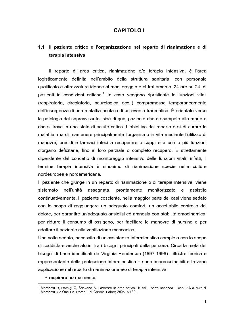 Anteprima della tesi: Problematiche di nursing nel paziente critico ventilato artificialmente in posizione prona, Pagina 4