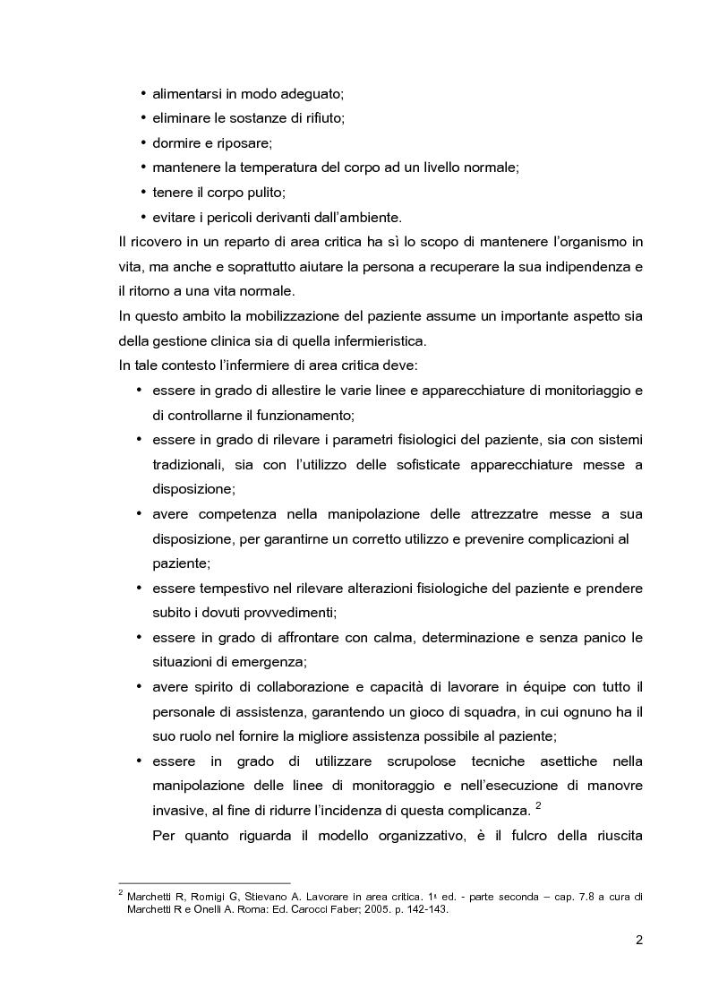 Anteprima della tesi: Problematiche di nursing nel paziente critico ventilato artificialmente in posizione prona, Pagina 5